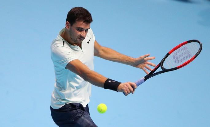 Tiếp bước Federer, Dimitrov giành vé vào bán kết - Ảnh 1.