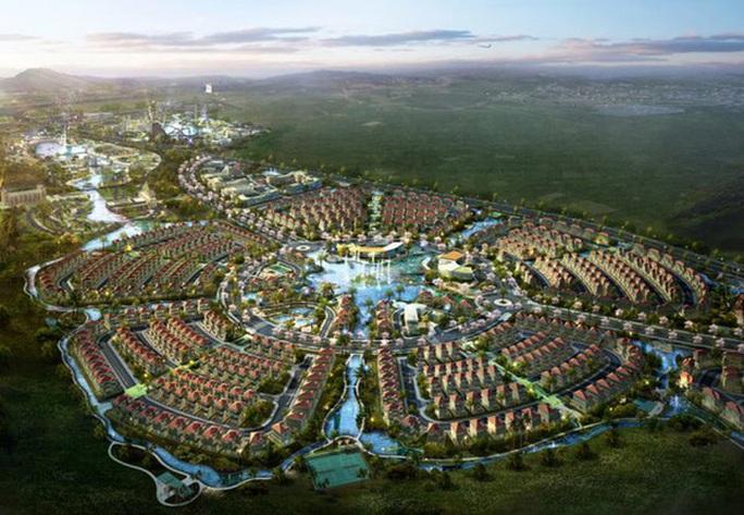 Phối cảnh dự án thành phố mới ở huyện Củ Chi có quy mô 15.000 ha.