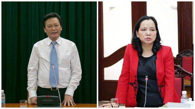 Thứ trưởng Bộ Nội vụ Nguyễn Duy Thăng (trái) và Trần Thị Hà - Ảnh: VNN