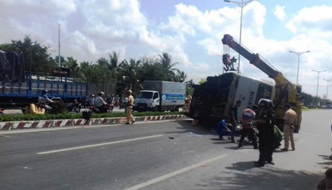 Hiện trường vụ tai nạn ( Ảnh:CTV)