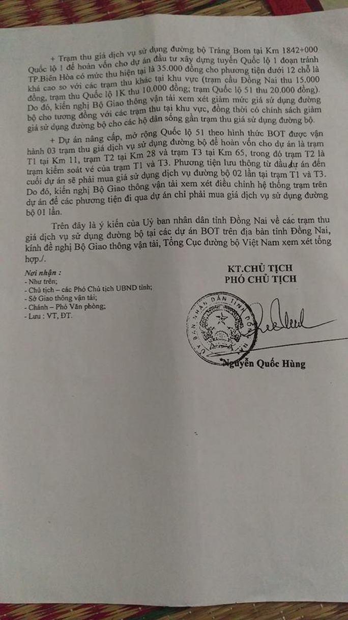 Sau Hưng Yên, đến Đồng Nai kiến nghị dời trạm thu phí tai tiếng - Ảnh 1.