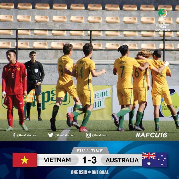Thua Úc, U16 Việt Nam chờ vé vớt - Ảnh 2.