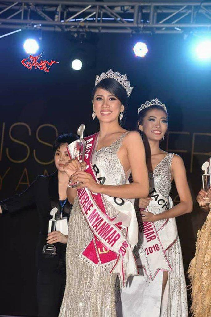 Cận cảnh nhan sắc tân Hoa hậu Hoàn vũ Myanmar - Ảnh 3.