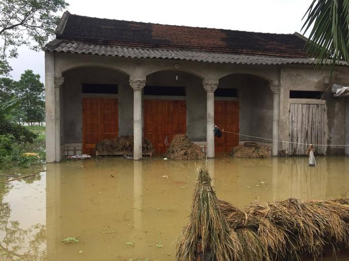 Cận cảnh nước ngập nhà dân ở nơi vỡ đê có kế hoạch - Ảnh 7.