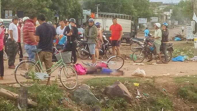 Một học sinh  8 tuổi chết tức tưởi dưới bánh xe tải - Ảnh 1.