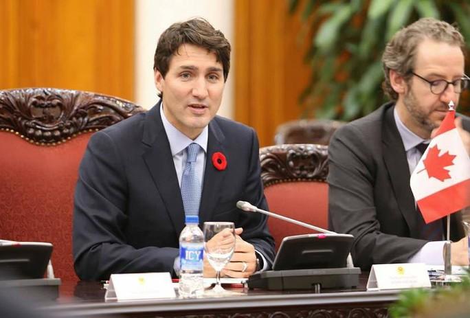 Cận cảnh lễ đón Thủ tướng Canada Justin Trudeau ở Phủ Chủ tịch - Ảnh 11.