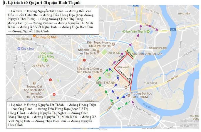 Cấm nhiều tuyến đường khu trung tâm TP HCM - Ảnh 1.