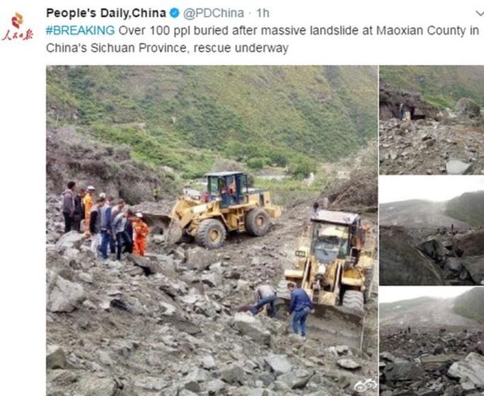 Lở đất dữ dội ở Trung Quốc - Ảnh 1.