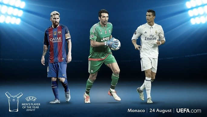 Buffon tranh Cầu thủ xuất sắc nhất châu Âu với Messi và Ronaldo - Ảnh 1.