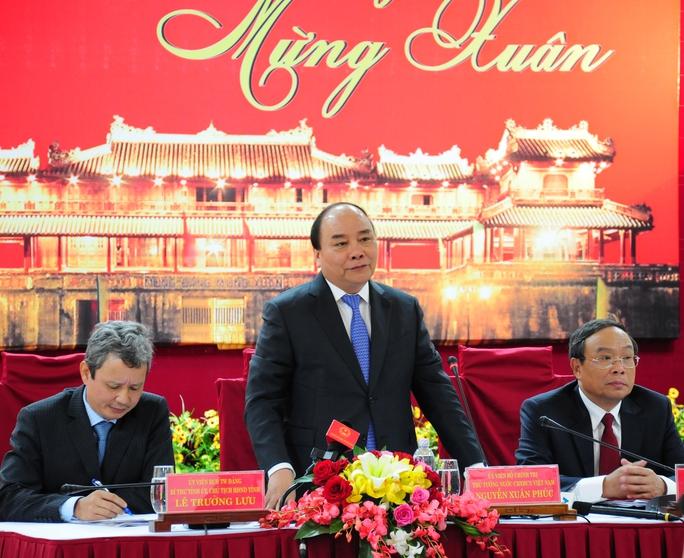 Thủ tướng Nguyễn Xuân Phúc tại buổi nói chuyện với cán bộ chủ chốt tỉnh Thừa Thiên - Huế