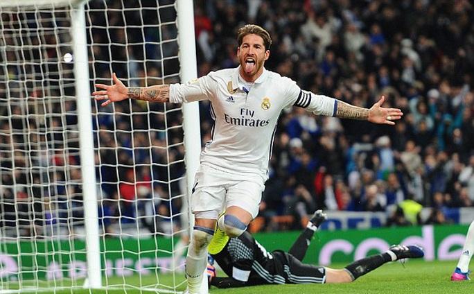 Trung vệ Ramos ghi bàn thứ 7 cho Real mùa này