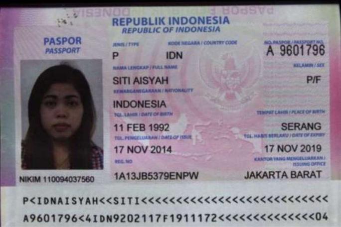Nghi phạm Indonesia Siti Aisyah. Ảnh: Detik.com