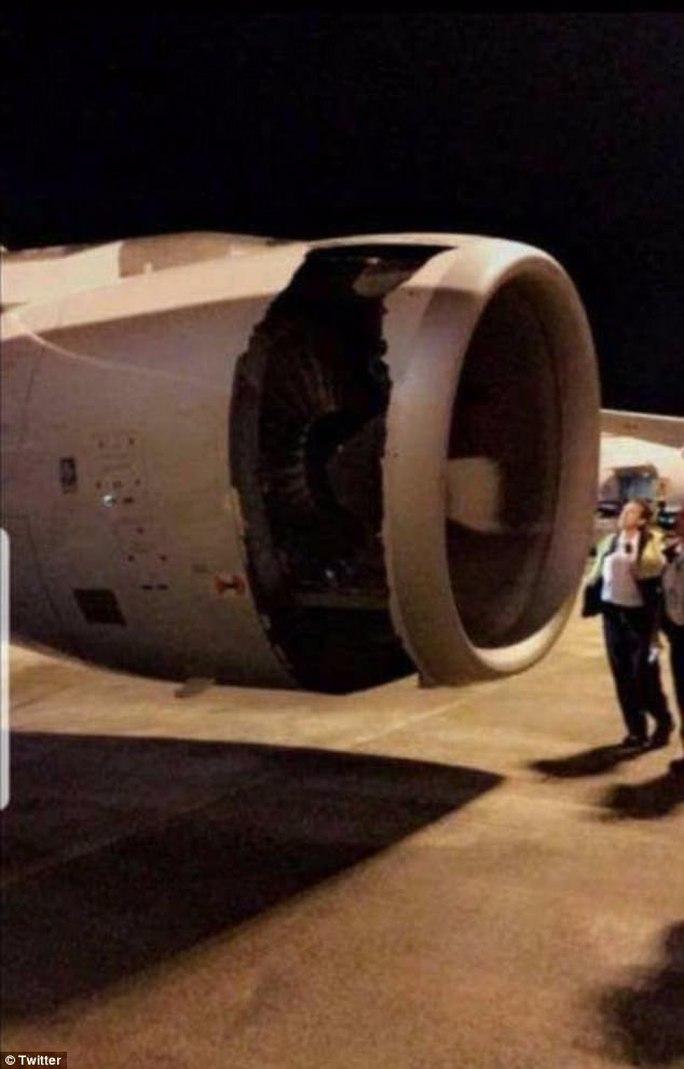 Máy bay thủng lỗ lớn trên động cơ ngay sau khi cất cánh - Ảnh 1.