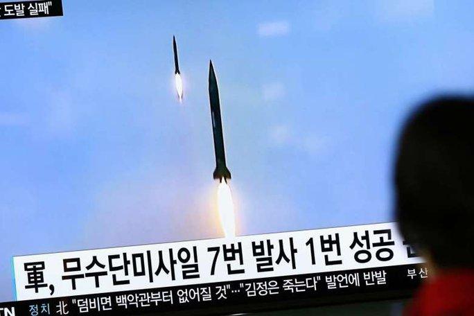 Triều Tiên từng nhiều lần thử tên lửa gây sốc với quốc tế. Ảnh: EPA