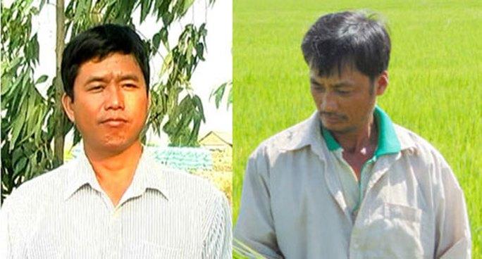 Hai tỉ phú nông dân Nguyễn Văn Khanh (trái) và Trần Đức Vĩnh