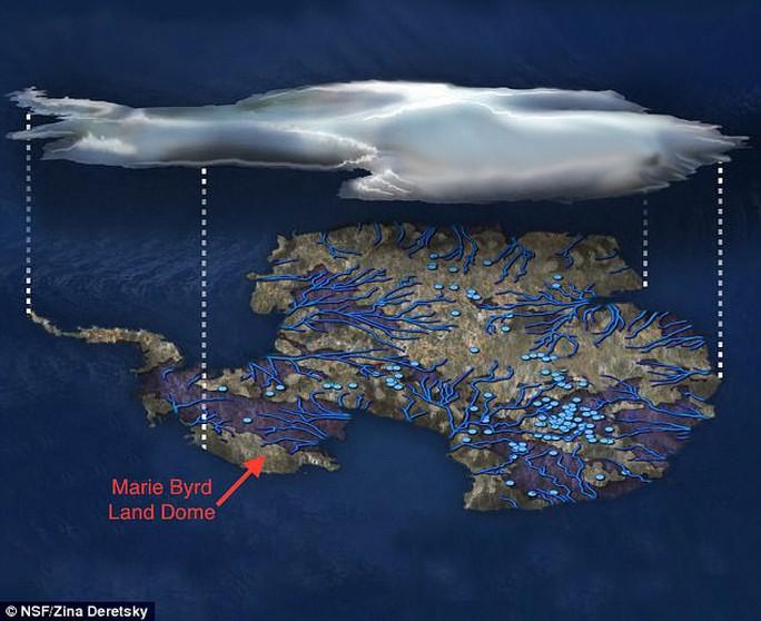 Mảng đá nóng bí ẩn đang làm tan chảy Nam Cực - Ảnh 1.