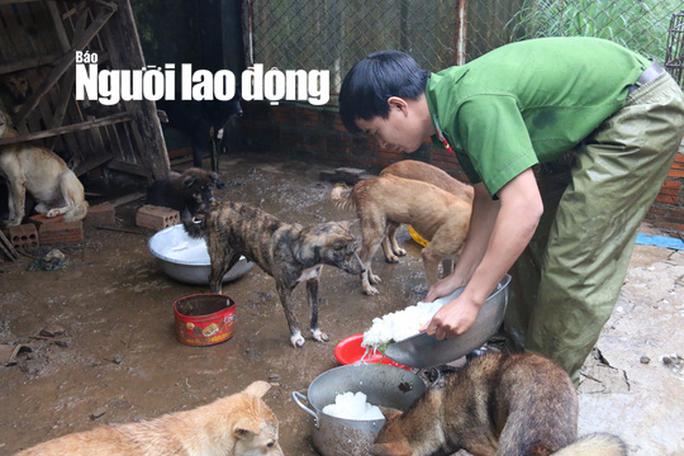 Được cứu khỏi cẩu tặc, 2 chú cún chào đời tại trụ sở công an - Ảnh 3.
