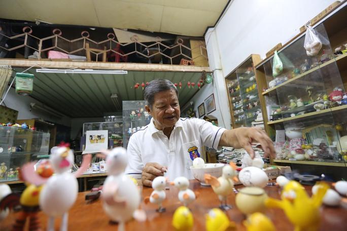 Ông Tâm mong muốn một ngày không xa sẽ quảng bá môn nghệ thuật tạo hình bằng vỏ trứng của Việt Nam ra thế giới cũng giống như nghệ thuật xếp giấy origami của người Nhật