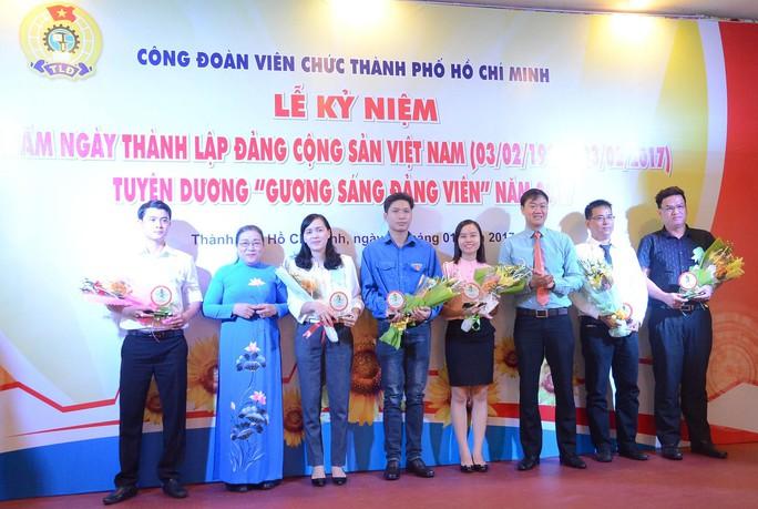 Các đảng viên tiêu biểu được Công đoàn Viên chức TP HCM tuyên dương