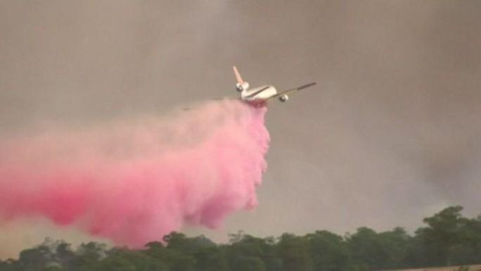 Máy bay chữa cháy rừng ở bang New South Wales - Úc. Ảnh: Reuters