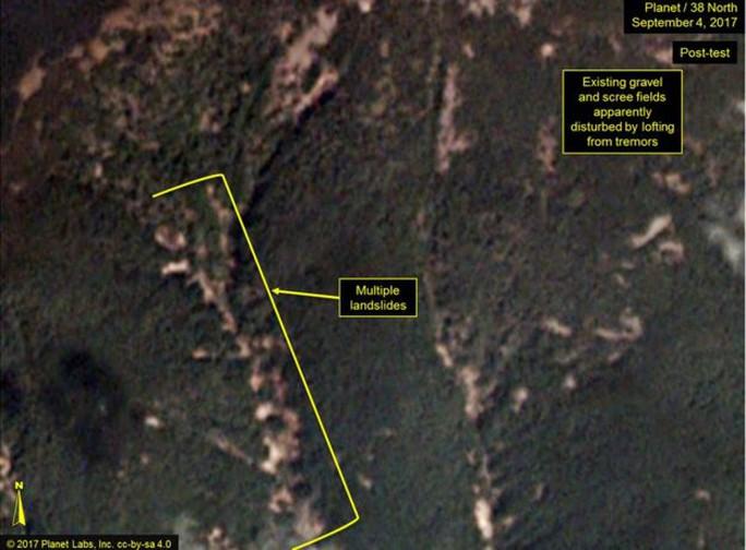 Triều Tiên: Vụ thử hạt nhân gây sạt lở đất - Ảnh 2.