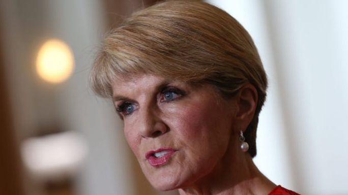 Ngoại trưởng Úc Julie Bishop. Ảnh: Guardian
