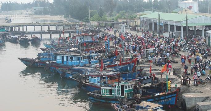 Cảng Cửa Việt nơi tàu cá mang số hiệu QT 96789 cập bờ thị bị nạn