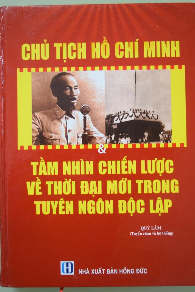 """Cuốn """"Chủ tịch Hồ Chí Minh - Tầm nhìn chiến lược về thời đại mới trong tuyên ngôn độc lập"""" của NXB Hồng Đức có thể bị in nối bản, in lậu bán kiếm lời"""
