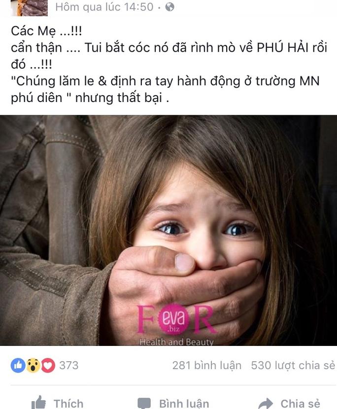 Bác tin đồn kẻ bắt cóc xuất hiện ở gần trường học Thừa Thiên- Huế - Ảnh 1.