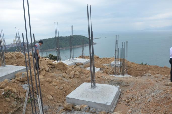 Dự án Khu du lịch sinh thái biển Tiên Sa xây dựng trái phép trên Sơn Trà vừa bị phát hiện