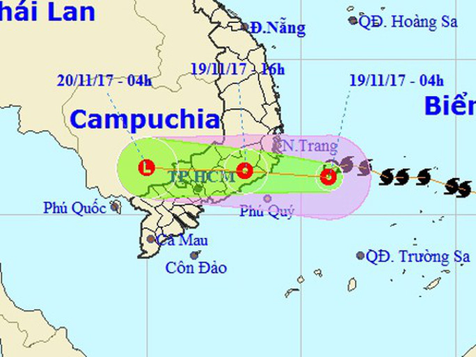 Bão số 14 suy yếu thành áp thấp nhiệt đới, cảnh báo mưa lớn - Ảnh 1.