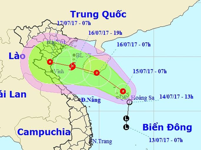 Áp thấp nhiệt đới khả năng mạnh lên thành bão, uy hiếp Bắc Bộ - Ảnh 1.