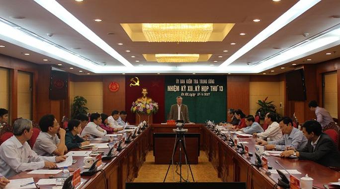 Kỳ họp thứ 13 của Uỷ ban Kiểm tra Trung ương