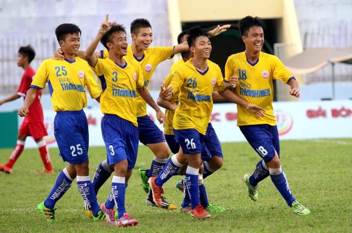Cầu thủ Huỳnh Công Đến (26), gốc Bình Định, cùng PVF vào tranh chung kết Giải U19 quốc gia 2017 Ảnh: Minh Ngọc