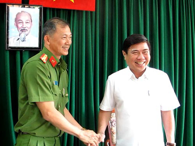 Chủ tịch UBND TP HCM Nguyễn Thành Phong biểu dương PC47 - Công an TP HCM vì đã triệt phá nhiều vụ án ma túy lớn