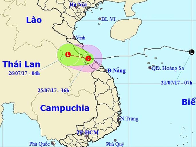Bão số 4 suy yếu thành áp thấp nhiệt đới chỉ trong 1 giờ - Ảnh 1.