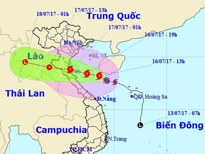 Sắp đổ bộ, bão số 2 mạnh lên giật cấp 12, gây mưa rất to - Ảnh 1.