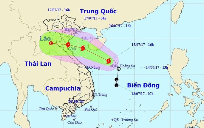 Bão số 2 giật cấp 10 trực chỉ  Nam Định-Hà Tĩnh - Ảnh 1.