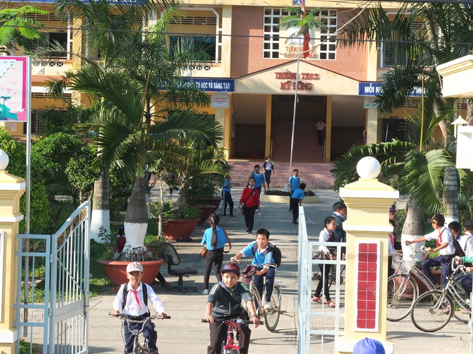 Trường THCS Mỹ Đông- nơi ông Phát sai phạm khi còn làm hiệu trưởng