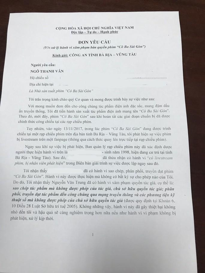 Ngô Thanh Vân muốn xử nghiêm khắc kẻ livestream lén phim Cô Ba Sài Gòn - Ảnh 3.