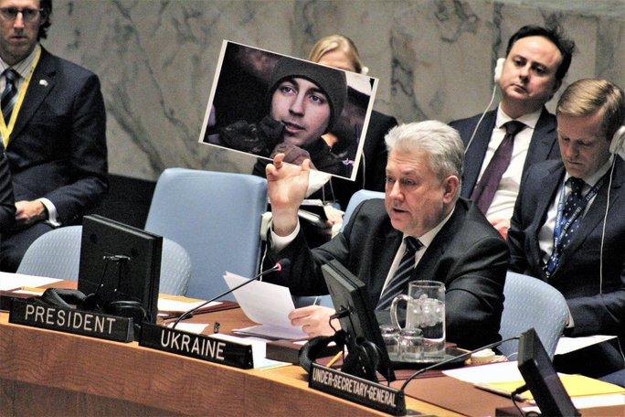 Đại sứ Ukraine tại LHQ, ông Volodymyr Yelchenko. Ảnh: Twitter