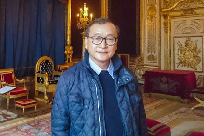 Thủ lĩnh đảng đối lập CNRP Sam Rainsy. Ảnh: Facebook