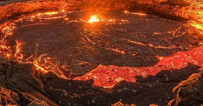 Hồ chứa carbon nóng chảy vừa được phát hiện. Ảnh: DAILY MAIL