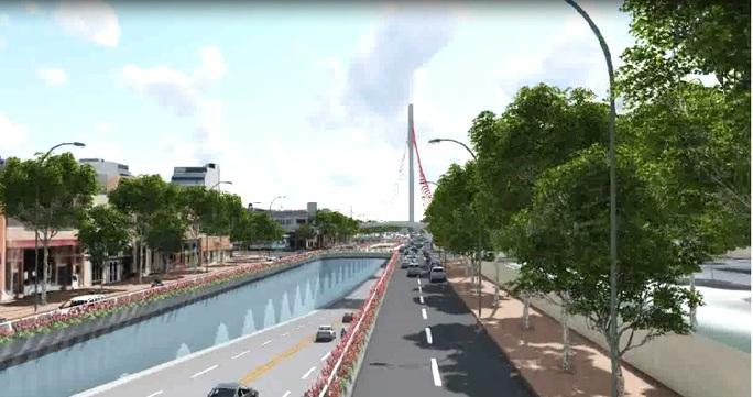 Đà Nẵng sắp xây cầu vượt 3 tầng gần 500 tỉ đồng - Ảnh 1.