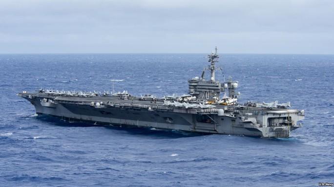 Tàu sân bay USS Carl Vinson. Ảnh: Hải quân Mỹ