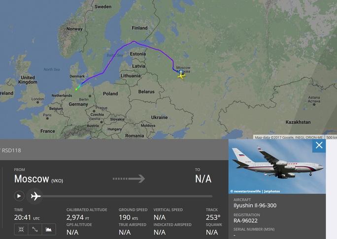 Động thái lạ của máy bay chở ông Putin dự G20 - Ảnh 1.