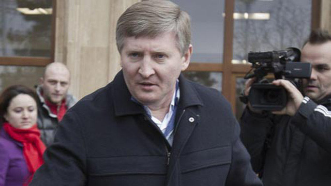 Nhà tài phiệt Rinat Akhmetov có tài sản ước tính 3,4 tỉ USD (tính đến tháng 1-2017) Ảnh: AP