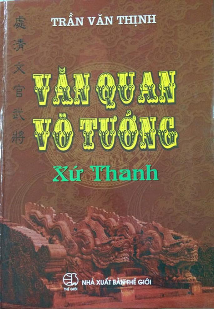 """Sách """"Văn quan võ tướng xứ Thanh"""