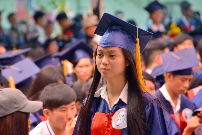 Sinh viên một trường ĐH tại TP HCM trong lễ tốt nghiệp Ảnh: Tấn Thạnh