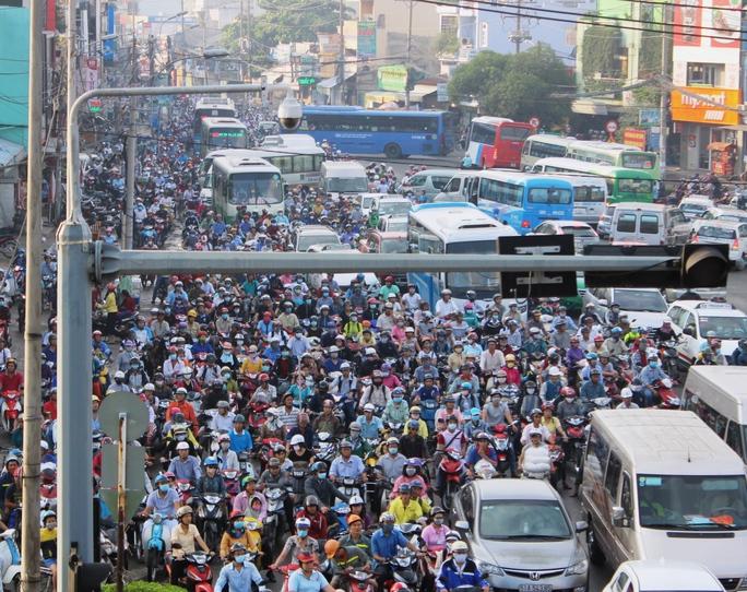 Tình trạng ùn tắc giao thông tại TP HCM ngày càng nghiêm trọng Ảnh: GIA MINH